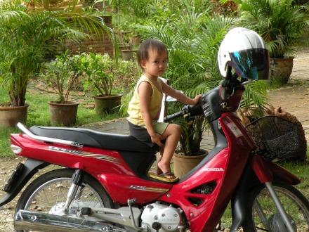 En moto desde pequeños