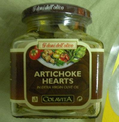 Alcachofas en aceite de oliva virgen. 280 gramos. 285 bahts - 5.78