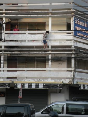 Arreglando la fachada