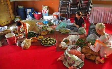 Preparando el Klathong