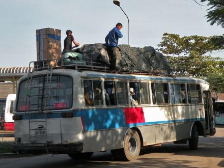 Autobus camino de algún sitio