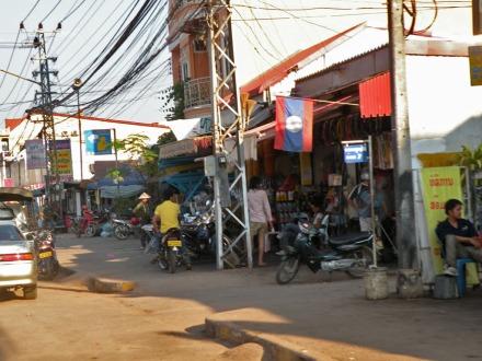 Una calle cualquiera de Vientiane