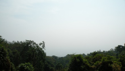 Vista desde el Doi Suthep con contaminación