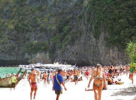 Maya Beach en febrero