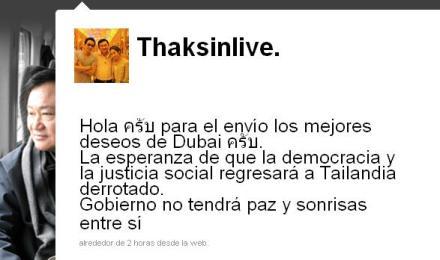 Twiter de Thaksin