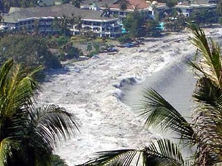 La ola entrando por Loh Dalam Bay