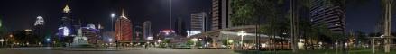 Panoramica nocturna Lumpini Park