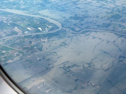 Imagen tomada en un vuelo Chiang Mai-Bangkok hace una semana.